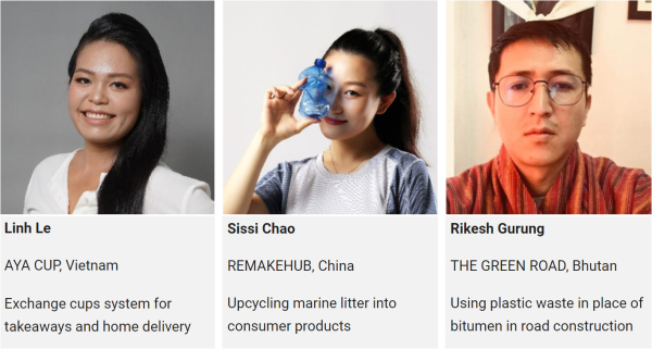三井化学が支援するアジアの3スタートアップ企業とその代表者
