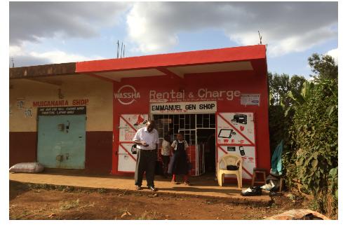 タンザニアの村々にある「キオスク」のお店