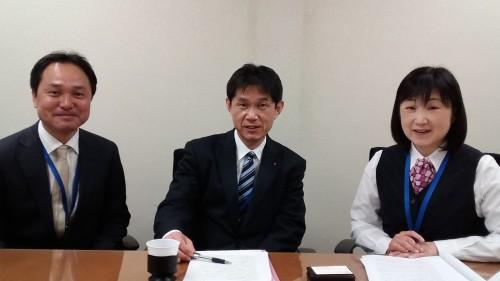 インタビューに答える左から、三村氏、田所氏、米川氏