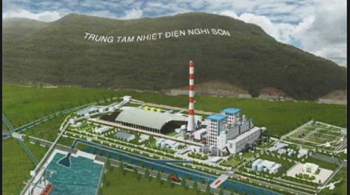 ギソン2石炭火力発電所の完成予想図