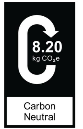 製品に貼付される「カーボンインパクト」表示