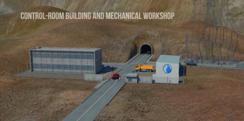 発電所全体を管理するコントロールシステムもすべて地下に建設