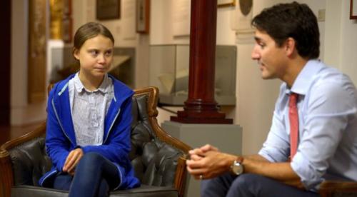 トルドー・カナダ首相とも会談したグレタさん(9月末)