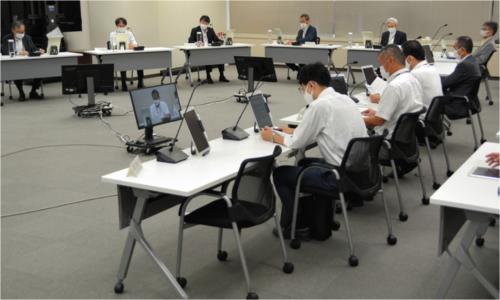 柏崎原発を審査する原子力規制委員会の様子