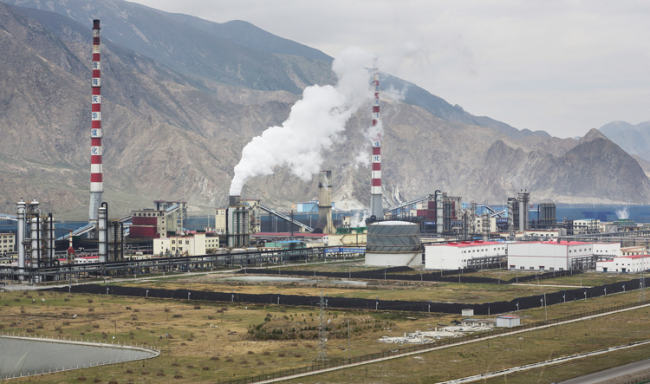 中国の石炭化学工場