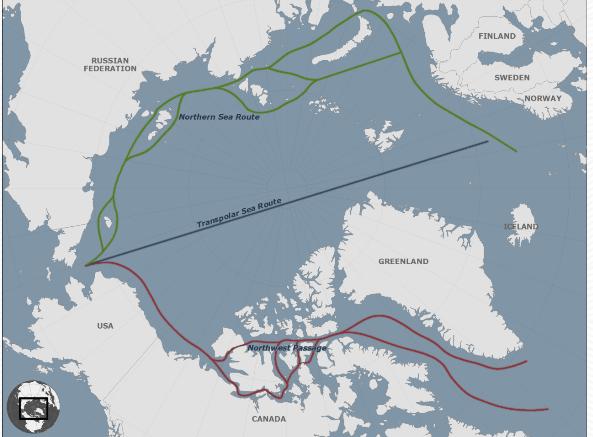 開発が想定されるTrans-shipment Routes