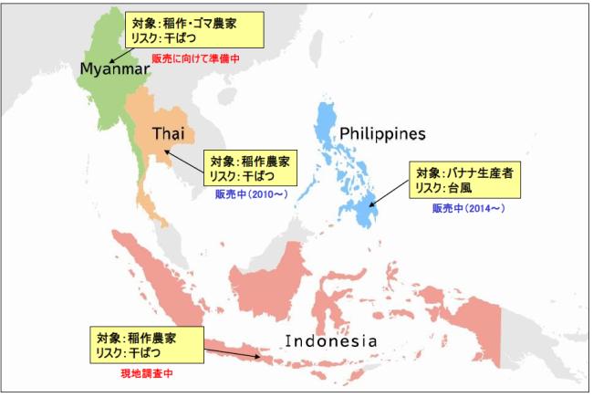 損保ジャパン日本興亜が開発・提供する天候デリバティブプロジェクト