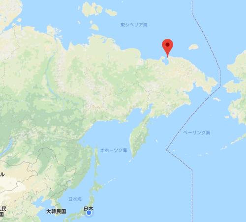 ロモノソフ号が曳航される予定のペヴェク