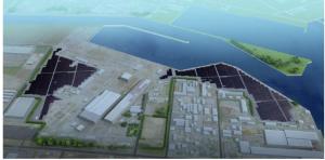 ソーラーパワー北九州が開発した同紙若松区のメガソーラー