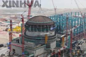 中国の原発(写真は、他地域で建設が進む原発)