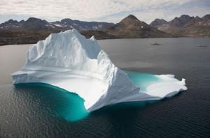 グリーンランド沖の氷河