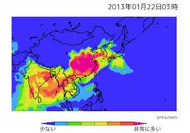 日本列島を覆う中国製PM2.5
