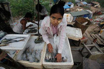 過酷な日々 タイの漁港や漁船では多くの不法入国者が無給で働かされている Chaiwat Subprasom-Reuters