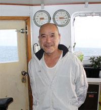 大賞を受賞した第5福積丸の山崎漁労長