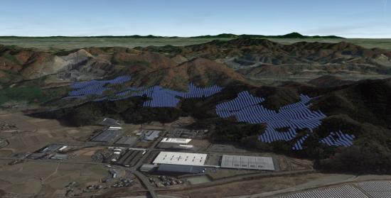 栃木県佐野市で建設中のソネディックスの太陽光発電事業