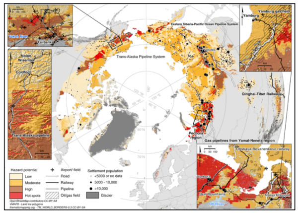 北極圏域のハザードマップ