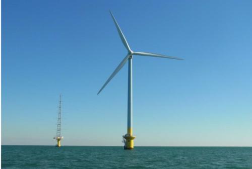 1月から商用運転を開始した銚子沖の洋上風力発電