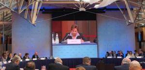 ドイツのベルリンで開いた気候対話会議の模様
