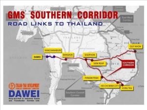 出典Dawei Development Company Limitedウェブサイト http://www.daweidevelopment.com/index.php/en/dawei-strategic-location/gms-southern-corridor