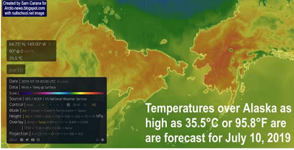 高温に見舞われている今年のシベリア、アラスカ地方