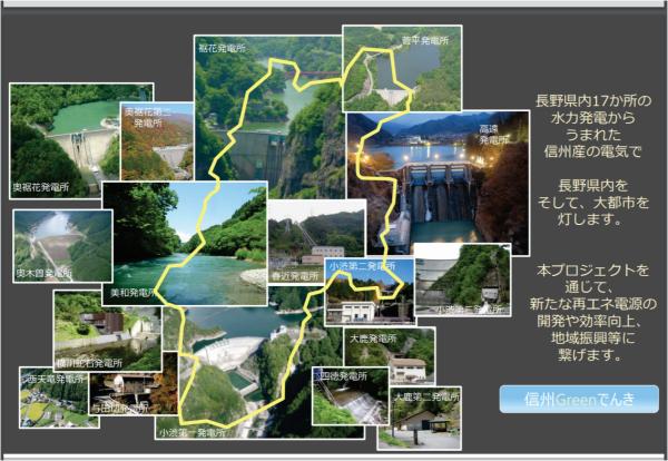 「信州の水」で作るCO2フリー発電所