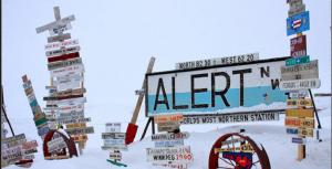 人類が住む最北の地、カナダ・アラート