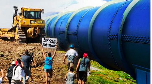 DAPL建設に反対する先住民ら