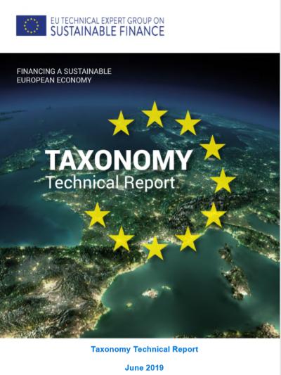 EUTaxonomy report表紙キャプチャ