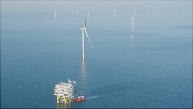 エルステッドが運営する洋上風力発電設備