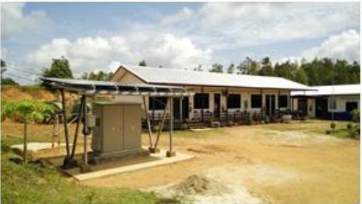 インドネシアの西カリマンタン州に設置されたパワーサプライステーション