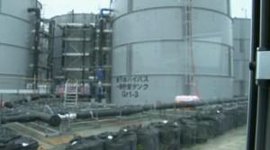 ダダ漏れの汚染水貯蔵タンク