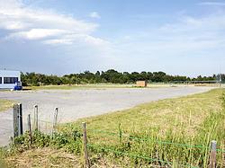 エイブルが計画している火力発電所の建設予定地=いわき市・好間中核工業団地