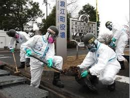 福島県内での除染作業の模様