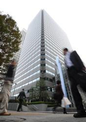 オリンパスの本社事務所が入るビル=東京都新宿区で、久保玲撮影