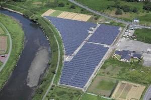 イメージ:市原市に建設されたメガソーラー(ユース・プランニングセンター提供)