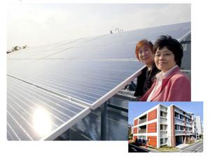 写真左は、社会福祉法人「悠遊」の鈴木理事長、右はNPO法人、エコメッセの大嶽理事長