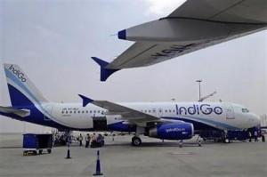 インディゴー航空のエアバスA320型機(12年3月7日、インド・バンガロール)
