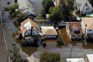 ハリケーンによる洪水に見舞われたニュージャージー州パターソン(2011年8月31日)