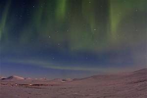 アラスカで観測されたオーロラ(2012年3月10日、米アラスカ州ノーム近郊)