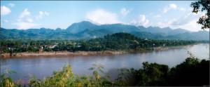 世界遺産のルアンパバン付近。この下流にダムが建設される