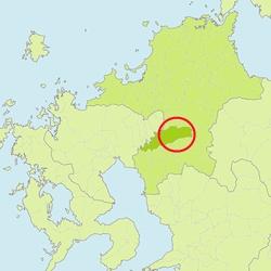 図1 福岡県久留米市のメガソーラーの立地