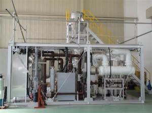 昭和電工が開発した温室効果ガス分解装置(同社提供)