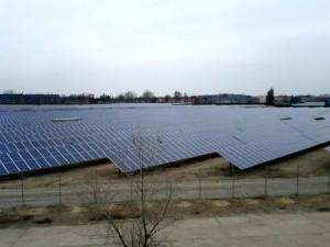 グーグルが投資したドイツ・ベルリン南西、ブランデンブルク・アン・デア・ハーフェルにある太陽光発電所