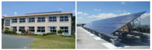 静岡浜松市の太陽光発電を設置した学校