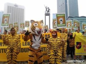 インドネシアでのトラ保護キャンペーン