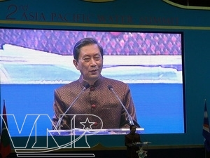 開会演説を行ったタイ副首相 (写真:HaLinh/TTXVN)